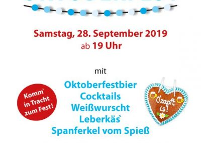 Einladung Oktoberfest 2019